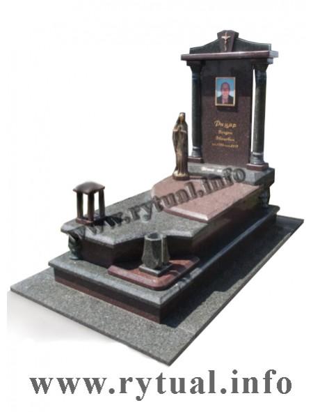 Пам'ятник з човнового та токівського граніту