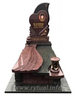 Пам'ятник з токівського та човнового граніту