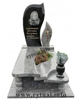 Пам'ятник з крутнівського гранату та букінського граніту